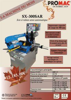 La machine du mois d'octobre 2019 : la SX-300SAR
