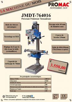 La machine du mois de novembre : JMDT-764016