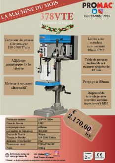 La machine du mois de décembre : 378VTE