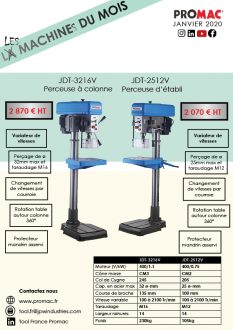 Les machines du mois de janvier : JDT-3216V et JDT-2512V