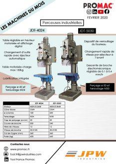 Les machines du mois de février 2020 : JDT-4024 et JDT-5030