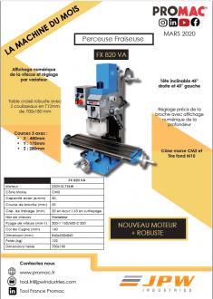 La machine du mois de mars : la FX 820 VA