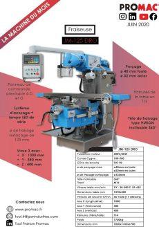 La machine du mois de juin 2020 : JM-125 DRO